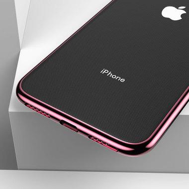Чехол для iPhone XS Max Electroplating - розовое золото, фото №2