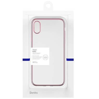 Чехол для iPhone XS Max Electroplating - розовое золото, фото №1