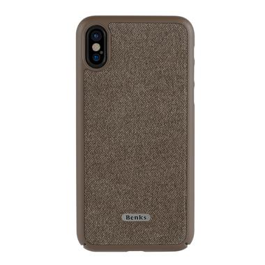 Benks Чехол для iPhone X коричневый Brownie, фото №1