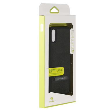 Benks Чехол для iPhone X с подставкой черный Brownie, фото №1