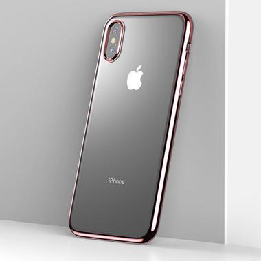 Чехол для iPhone XS Max Electroplating - розовое золото, фото №3