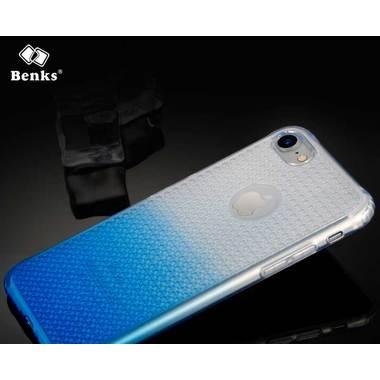 Benks блестящий градиентный чехол для iPhone 7 cиний, фото №1