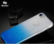 Benks блестящий градиентный чехол для iPhone 7 cиний