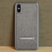 Benks Чехол для iPhone X с подставкой серый Brownie