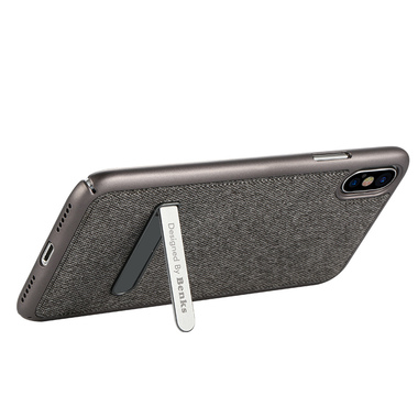 Benks Чехол для iPhone X с подставкой серый Brownie, фото №2