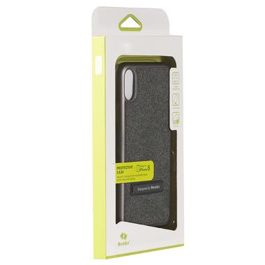 Benks Чехол для iPhone X с подставкой серый Brownie, фото №3