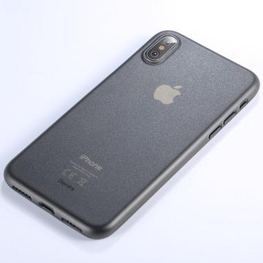 Benks Чехол для iPhone XS/X 5,8 - LolliPop черный полупрозрачный, фото №1
