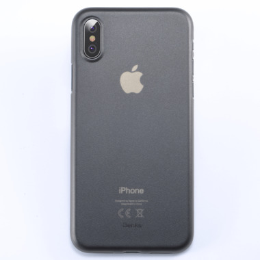 Benks Чехол для iPhone XS/X 5,8 - LolliPop черный полупрозрачный, фото №2