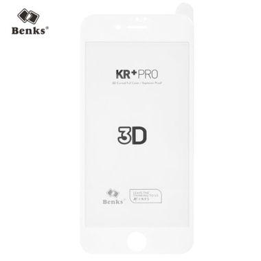 Benks Приватное затемняющее стекло для iPhone 7/8 Белое 3D KR+Pro, фото №1