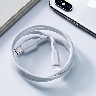 Benks Type C - Lightning кабель белого цвета MFI - 120 см, фото №15