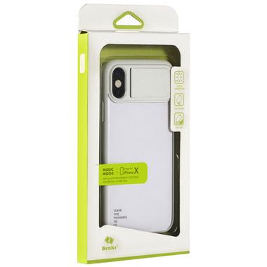 Benks чехол для iPhone X - белый с подставкой Mochi, фото №2