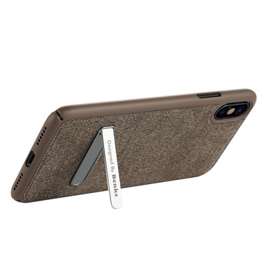 Benks Чехол для iPhone X с подставкой коричневый Brownie, фото №1