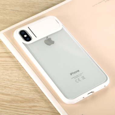 Benks чехол для iPhone X - белый с подставкой Mochi, фото №3