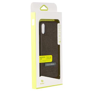 Benks Чехол для iPhone X с подставкой коричневый Brownie, фото №2