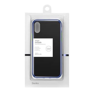 Чехол для iPhone X/Xs - синий Magic Smooth, фото №3