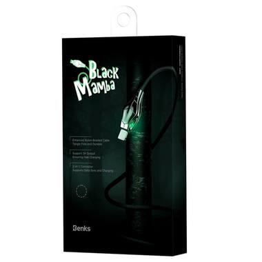 Lightning USB - Black Mamba - 1.2 м, фото №1