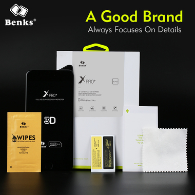Benks 3D защитное стекло на iPhone 7 Plus - белое XPro, фото №2
