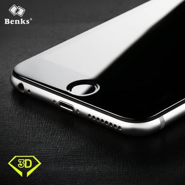 Benks Защитное стекло на iPhone 6 Plus | 6S Plus черная рамка 3D King Kong, фото №1