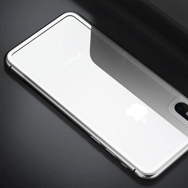 Защитное стекло на заднюю панель iPhone XS Max - Silver, фото №1