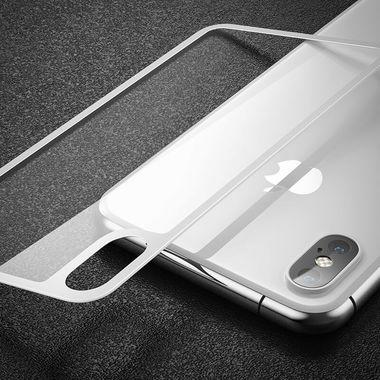 Защитное стекло на заднюю панель iPhone XS Max - Silver, фото №4