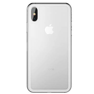 Защитное стекло на заднюю панель iPhone XS Max - Silver, фото №5