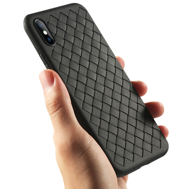 Benks чехол для iPhone X серия Weaveit - черный, фото №3