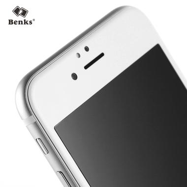 Benks Защитное стекло на iPhone 6 Plus   6S Plus белая рамка KR+Pro 3D, фото №1