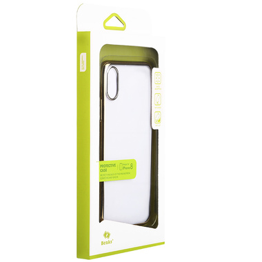 Benks чехол для iPhone X - золотой цвет рамки Pure, фото №3
