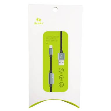 0.25 м - переходник для наушников и зарядки iPhone - серый, фото №3
