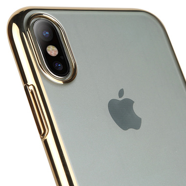 Benks чехол для iPhone X - золотой цвет рамки Pure, фото №1