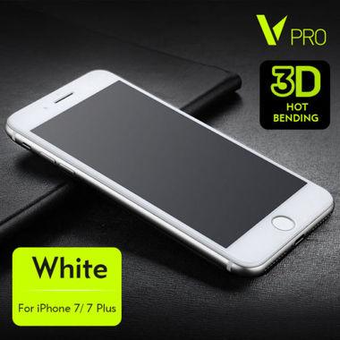Benks Защитное стекло для iPhone 7/8 Белое 3D VPro, фото №1