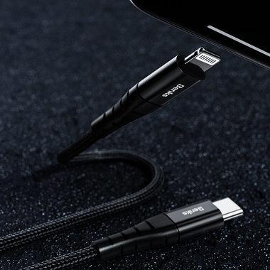 Type C - Lightning MFI кабель черный 0,25 м - M11, фото №1