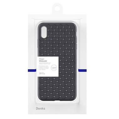Benks чехол для iPhone XS Max серия Weaveit - черный, фото №3