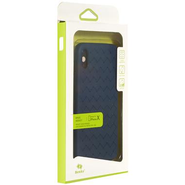 Benks чехол для iPhone X серия Weaveit - синий, фото №2
