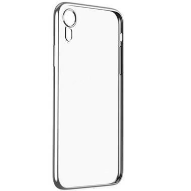 Чехол для iPhone XR Electroplating - серебряный, фото №3
