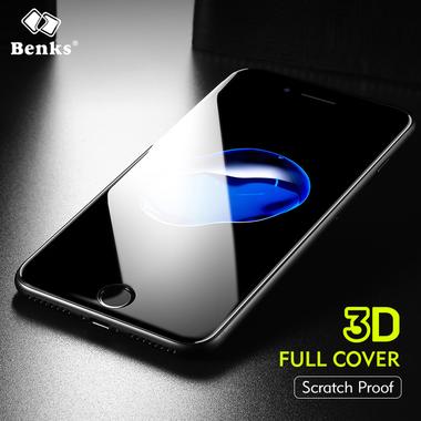 Benks 3D защитное стекло на iPhone 7 Plus - черное King Kong, фото №3