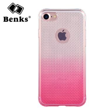 Benks градиентный чехол на iPhone 7 Plus - розовый, фото №2