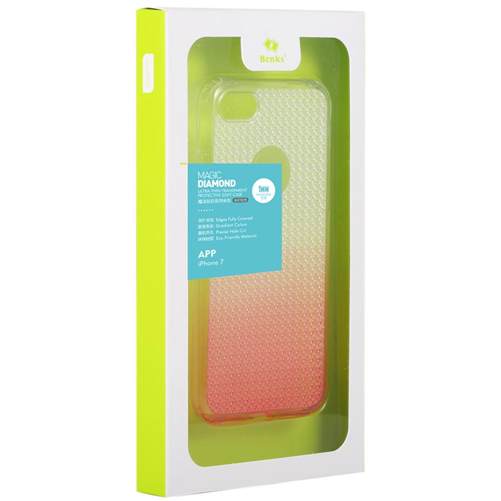 Купить розовый чехол на iPhone 7 Plus градиентная раскраска