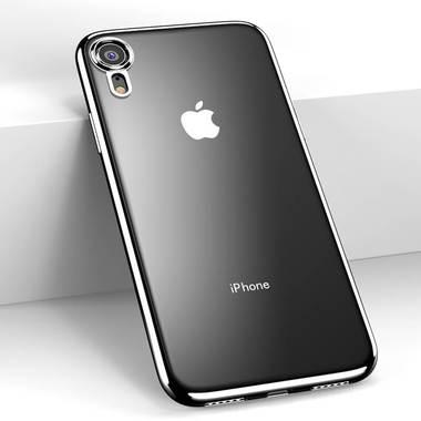 Чехол для iPhone XR Electroplating - черный, фото №3