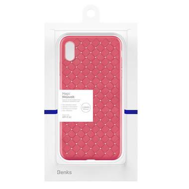 Benks чехол для iPhone XS Max серия Weaveit - розово-красный, фото №1