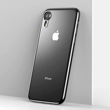 Чехол для iPhone XR Electroplating - черный, фото №2
