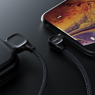 Lightning USB MFI кабель под 90 градусов - черный Elbow, фото №9