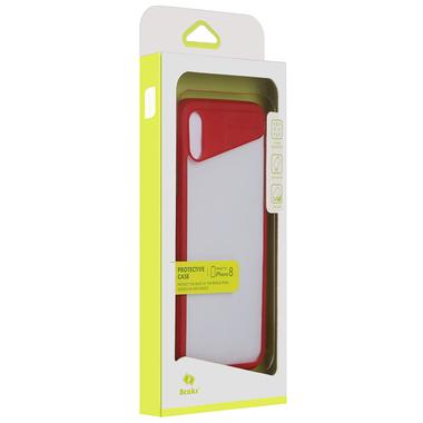 Чехол для iPhone X - красный Mochi, фото №3