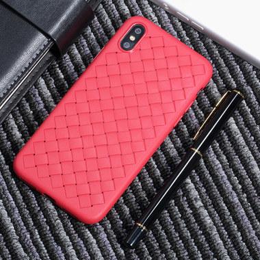Benks чехол для iPhone XS Max серия Weaveit - розово-красный, фото №3