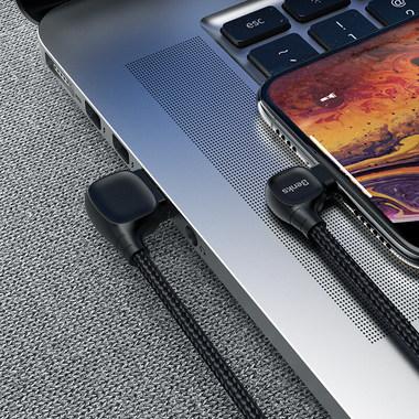 Lightning USB MFI кабель под 90 градусов - черный Elbow, фото №10