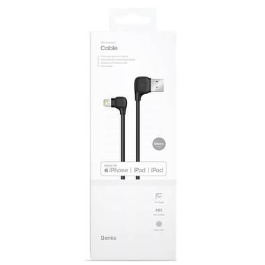 Lightning USB MFI кабель под 90 градусов - черный Elbow, фото №6