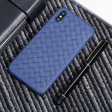 Benks чехол для iPhone XS Max серия Weaveit - синий, фото №3