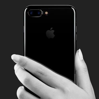 Чехол для iPhone 7 Plus Electroplating Черный, фото №2