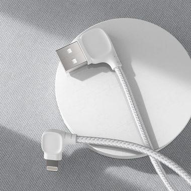 Lightning USB MFI кабель под 90 градусов - белый Elbow, фото №3