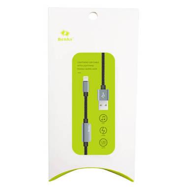 Переходник для наушников и зарядки iPhone - серый 120 см, фото №2
